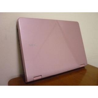 エヌイーシー(NEC)のお洒落で綺麗なピンク 最新win10 高速デュアルコア メモリ3G NEC La(ノートPC)