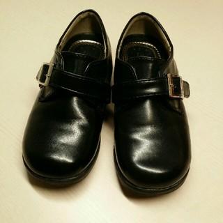 アスビー(ASBee)の男の子*美品*フォーマル靴*黒*18.0cm*中敷き取り外し可能(フォーマルシューズ)