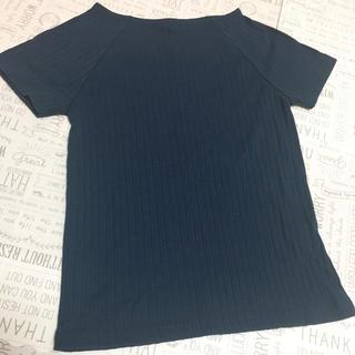 シマムラ(しまむら)の【新品 未使用】 しまむら リブTシャツ  ♥ネイビー(Tシャツ(半袖/袖なし))