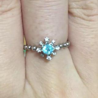 アベリ の一点もの!パライバトルマリン プラチナダイヤモンドチェーンリング(リング(指輪))