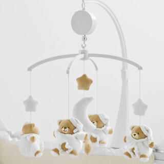 【新品•未開封】Nanan PUCCIO(プッチョ) ベッドメリー ホワイト (オルゴールメリー/モービル)