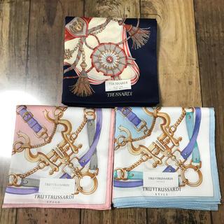 トラサルディ(Trussardi)の新品 トラサルディ ハンカチ 3枚セット(ハンカチ)