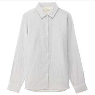 ムジルシリョウヒン(MUJI (無印良品))の無印良品 新品未使用 ストライプシャツ(シャツ/ブラウス(長袖/七分))