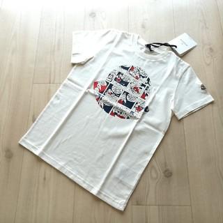 モンクレール(MONCLER)の12A ホワイト モンクレールキッズ プリントTシャツ(Tシャツ(半袖/袖なし))