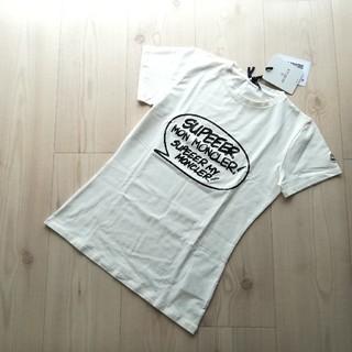 モンクレール(MONCLER)の12A ホワイト モンクレールキッズ ロゴプリントTシャツ(Tシャツ(半袖/袖なし))