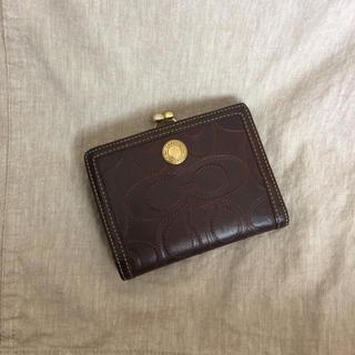 コーチ(COACH)の■COACH ブラウン二つ折り財布(財布)