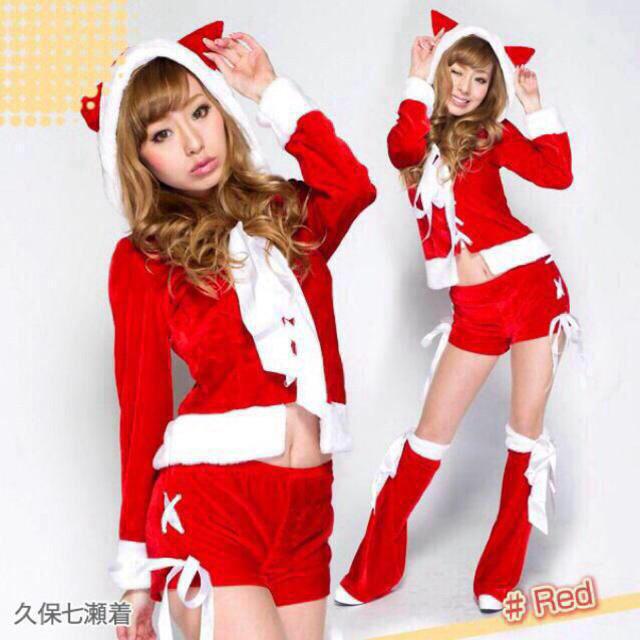新品☆猫耳サンタクロース♪赤コスプレ レディースのパンツ(ショートパンツ)の商品写真
