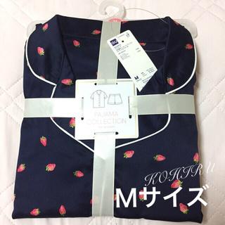 ジーユー(GU)のGU いちご柄パジャマ 新品 Mサイズ 半袖+ショーパンセット(パジャマ)
