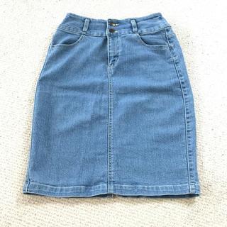 ハニーズ(HONEYS)のタイトジーンズスカート(ひざ丈スカート)