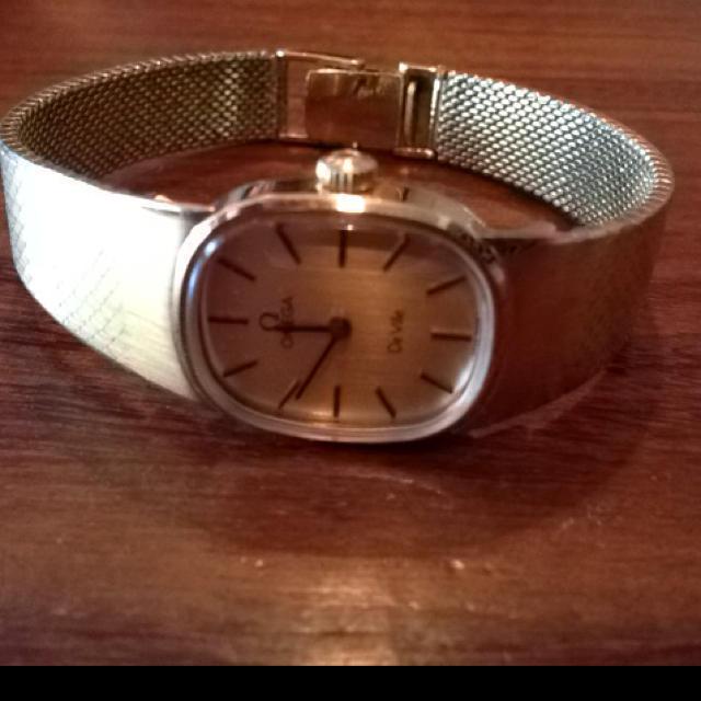 オメガアンティーク手巻きゴールド腕時計 レディースのファッション小物(腕時計)の商品写真