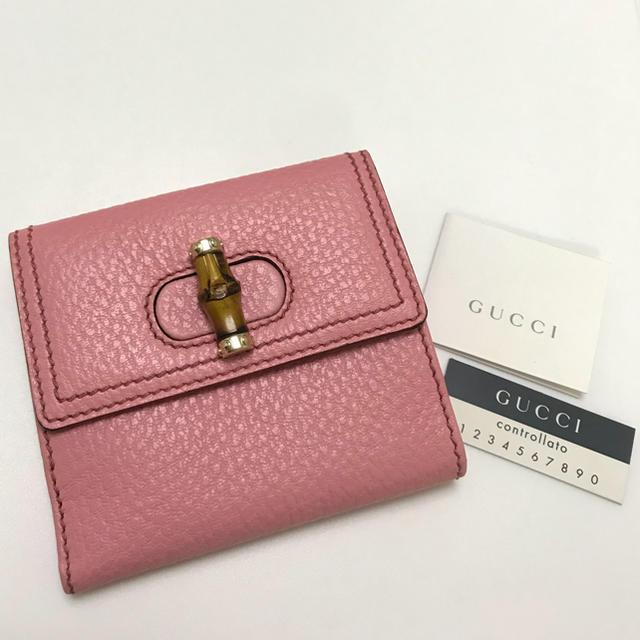 0d04d018e0f0 Gucci(グッチ)のグッチ 財布 二つ折り バンブー ピンク レザー 新品 未使用 レディース
