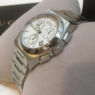 グッチ(Gucci)のグッチ GUCCI 腕時計 パンテオン YA115407 白文字盤 クロノグラフ(腕時計(アナログ))