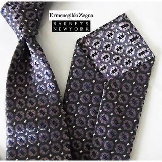 エルメネジルドゼニア(Ermenegildo Zegna)の4万新品ゼニア.クチュールxバーニーズ購入最高級イタリア製織り柄ネクタイ(ネクタイ)