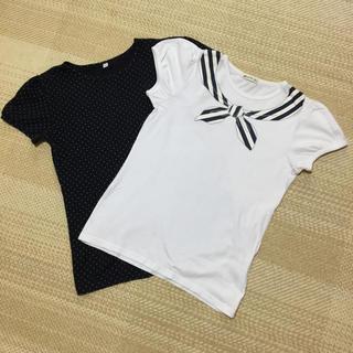150 半袖パフスリーブTシャツ 2枚セット