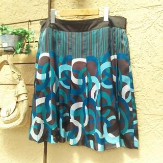 ヴァンドゥーオクトーブル(22 OCTOBRE)の22OCTOBRE  大きいサイズ 46 スカート(ひざ丈スカート)