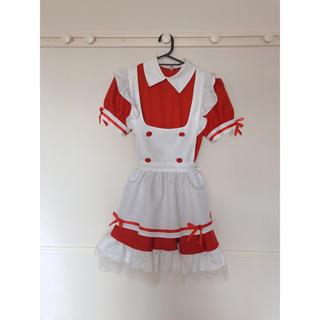 ボディライン(BODYLINE)のコスプレ メイド服 赤✱ボディーライン(衣装一式)