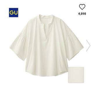 ジーユー(GU)のGU フレアスリーブ ブラウス(シャツ/ブラウス(半袖/袖なし))