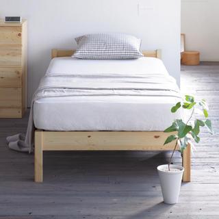 MUJI (無印良品) - 無印良品:パイン材シングルベッド:マットレス付
