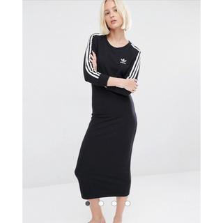 アディダス(adidas)の【XLサイズ】新品タグ付き adidas アディダス  ワンピース ブラック(ロングワンピース/マキシワンピース)