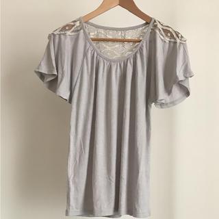 オズモーシス(OSMOSIS)のosmosis バックレース Tシャツ フリル袖(Tシャツ(半袖/袖なし))