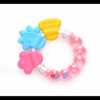 歯固め 新品 ガラガラ おもちゃ 赤ちゃん(がらがら/ラトル)
