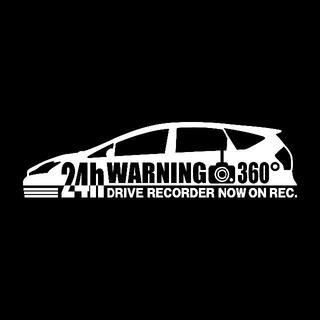【ドラレコ】トヨタ プリウスα【40系】後期型 警告 録画中 ステッカー