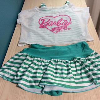 バービー(Barbie)のバービー 水着 女の子 140 女児 Barbie セパレート キッズ(水着)