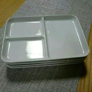 ムジルシリョウヒン(MUJI (無印良品))のあじさい様 MUJI 角皿 4枚(食器)