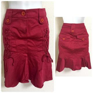 エマニュエルウンガロ(emanuel ungaro)のウンガロフィーバー レッド マーメイド スカート 38(ひざ丈スカート)
