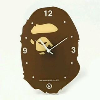 A BATHING APE - A BATHING APE APE HEAD WALL CLOCK 掛時計