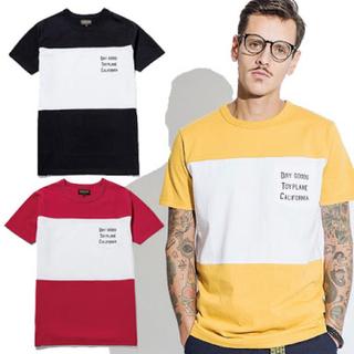 トイプレーン(TOYPLANE)のtoyplane パネルボーダーTシャツ(Tシャツ(半袖/袖なし))