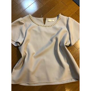 アストリアオディール(ASTORIA ODIER)のASTORIA ODIER パールブラウスサイズL(シャツ/ブラウス(半袖/袖なし))