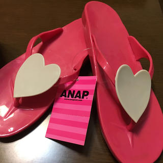 アナップ(ANAP)のハート型ビーチサンダルL☆新品(ビーチサンダル)