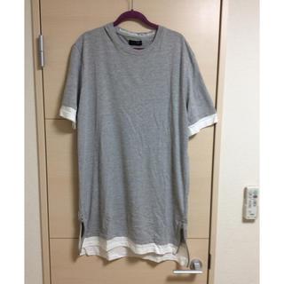 ザラ(ZARA)の【新品未使用】半額 ZARA MAN レイヤード風 サイドzip Tシャツ(Tシャツ/カットソー(半袖/袖なし))