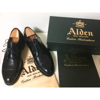 オールデン(Alden)の新品未使用!オールデン  ブラック カーフ(ドレス/ビジネス)