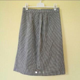 タケオニシダ(TAKEO NISHIDA)のタケオニシダ ギンガムチェック タイトスカート(ひざ丈スカート)