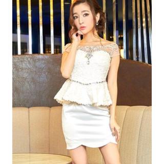 ビジューペプラムドレス(ミニドレス)