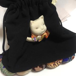 ネコの巾着♡(和装小物)