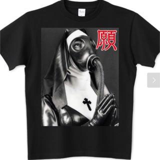 オリジナルTシャツ 願い 平和 ガスマスク マリア キリスト
