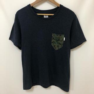 アールニューボールド(R.NEWBOLD)のR.NEWBOLD 迷彩 ポケット 半袖 クルーネック Tシャツ 杢紺 M(Tシャツ/カットソー(半袖/袖なし))