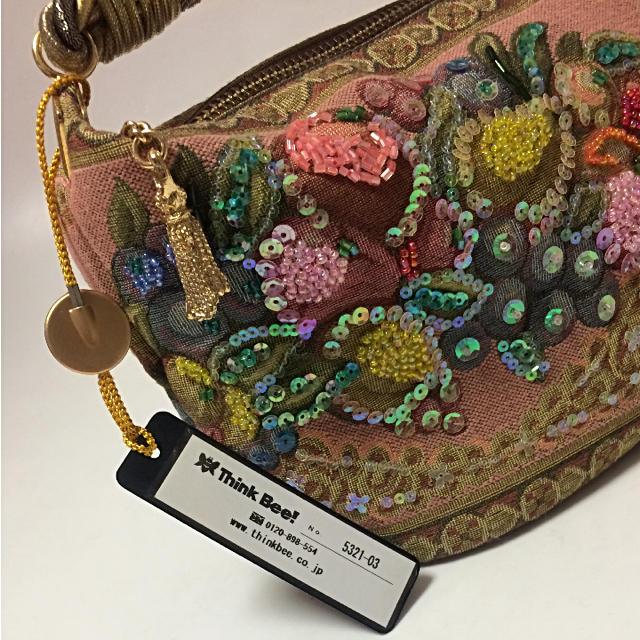 Think Bee!(シンクビー)のシンクビー ボートバッグ 未使用品 ゴブラン織り パーティーバッグ ミニバッグ レディースのバッグ(ハンドバッグ)の商品写真
