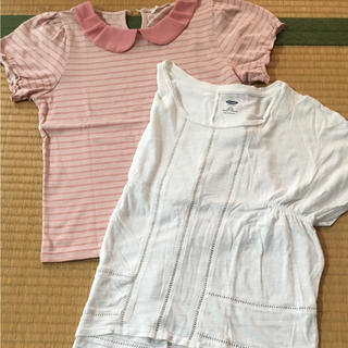 ジーユー(GU)の140cm GU オールドネイビー tシャツ  (Tシャツ/カットソー)