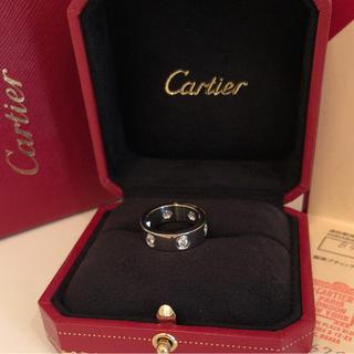 カルティエ(Cartier)のカルティエ  ラブリング   フルダイヤ   48号   WG(リング(指輪))