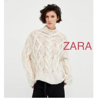 ザラ(ZARA)の新品タグ付き ザラ ビックサイズ セーター ニット M ホワイト 白(ニット/セーター)
