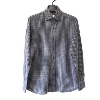 オリアン(ORIAN)の定2.3万 ORIAN オリアン コットンチェック長袖BDシャツS(シャツ)