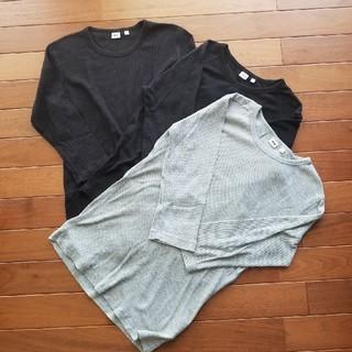 ユニクロ(UNIQLO)の虹様専用です!ユニクロ7分袖Tシャツ3枚セット(Tシャツ/カットソー(七分/長袖))