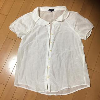 ギャップ(GAP)のGAP ギャップ 半袖ブラウス 薄手 M オフホワイト(シャツ/ブラウス(半袖/袖なし))