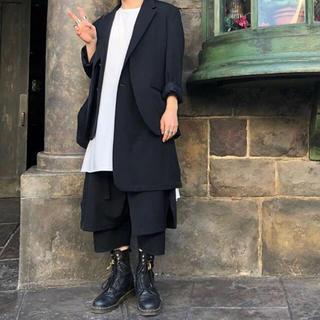 ヨウジヤマモト(Yohji Yamamoto)のyohji yamamoto 18ss 煩悩レイヤード無地ギャバjkt(テーラードジャケット)