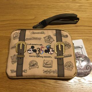 ディズニー(Disney)のディズニーランド35周年 スマホケース ヒストリー柄(モバイルケース/カバー)