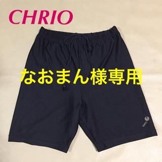 CHRIO メンズ スポーツ用スパッツ レギンス 黒 M(レギンス/スパッツ)